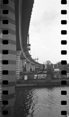 I love sprockets! (Skley) Tags: wedding blackandwhite berlin photography photo holga foto fotografie creative picture commons cc creativecommons bild licence sprockets kreativ holga120n sprockethole schwarzweis lizenz sprengelkiez skley digitaliza dennisskley