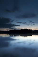 twilight (dK.i photography (not diggin the new format)) Tags: longexposure blue sunset germantown water clouds canon reflections movement twilight dusk smooth maryland hour mystical filters magical waterscape boyds blackhillregionalpark ef2470f28lusm bwcpl 5dmkii singhrayrgnd