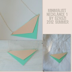 2012 summer jewerly 4 (szilviaszabo91) Tags: triangle duo peach jewelry gree pendant turquise necklance neclance 2012new