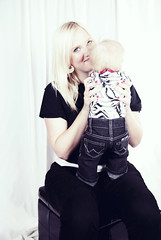 Kinsey Jane  3 Months (ShellaBellaStudios) Tags: portrait baby bunnyears threemonthold pinktutu westernboots easterportrait motheranddaughterportrait zebraprintbackground babywranglerjeans