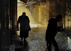 Theatre of Absurd (David Mor) Tags: street morning light silhouette alley theatre jerusalem existentialism sunrays pantomime oldcity albertcamus playwrite beingandnothingness jeanpaulsartre teatrodellassurdo absurdestheater teatrodoabsurdo teatrodelabsurdo    absurdndrma