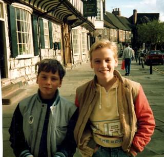 Jon and Chris in York - 1988