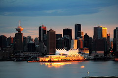 A golden moment (peggyhr) Tags: blue sunset red brown white canada black vancouver reflections gold grey gallery bc harbour burrardinlet canadaplace soe vancouverskyline goldenlight thegalaxy 50faves cans2s peggyhr flickrbronzeaward 100commentgroup asbeautifulasyouwant mygearandme blinkagain nossasvidasnossomundoourlifeourworld thegalaxyhalloffame thelooklevel1red thelooklevel2yellow img8061a