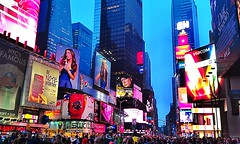 Times Square, New York (Arutemu) Tags: city nyc newyorkcity travel urban usa ny newyork brooklyn night america evening us cityscape view manhattan scenic ciudad scene american timessquare scenes nuevayork   travelhdr