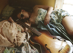 (yyellowbird) Tags: house selfportrait abandoned girl rock illinois guitar lolita cari heartbreakhotel memphisblues retroshades celebrityapprentice starstuck