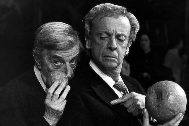 "Frederick Ashton and Robert Helpmann in rehearsals for Cinderella. 1948.  <a href=""http://www.roh.org.uk"" rel=""nofollow"">www.roh.org.uk</a> Photo by Donald Southern."