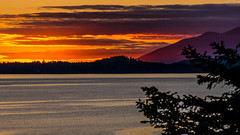 Sorbet sky (A Be) Tags: ocean pink sunset orange mountain mountains silhouette clouds purple dusk pacificocean tofino hemlock sorbet middlebeachlodge