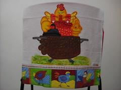 Pano de prato Galinha passando roupas (Pintura em tecido. Panos de prato.) Tags: galinha galinhas pinturacountry panosdeprato panodecopa