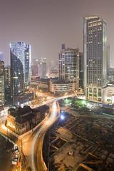 Shanghai (arnd Dewald) Tags: china light window night skyscraper licht shanghai nacht highrise   hochhaus   wujianglu jingandistrict arndalarm  mg1214cure100bl10c50rd1v51ecklein