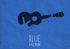Blue Valentine poster (ga3lle) Tags: blue film cindy movie poster design hands hand williams ukulele graphic ryan main dean michelle valentine bleu derek fanart gosling mains gaelle 2010 graphisme periera ga3lle cianfrance taburiaux