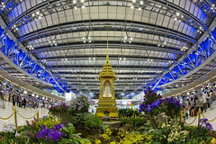 Suvarnabhumi Airport #4 (thai-on) Tags: light people architecture night airport nikon fisheye d3 samutprakan totallythailand