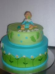 P1060700 (cakelarre) Tags: babyshower futbolclubbarcelona soccercake cakeblue cakegreen bautizocake tartasdecoradasfutbol