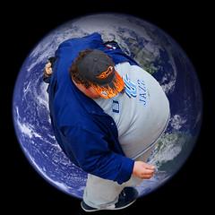 Man of the World (Blue Falcon Foto) Tags: world blue man men hat basketball grey utah big globe view baseball humanity earth fat large jazz nike flame health jacket cap blaze diet heavy weight obesity sweats overweight rotund