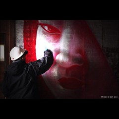 System painting by torchlight for the Ghost Village Project in Scotland #wallkandy #aoc #agentsofchange #sytem #streetart #graffiti #art #scotland (Photos  Ian Cox - Wallkandy.net) Tags: street streetart art canon ian photography graffiti scotland gallery system document cox agentsofchange wallkandy ghostvillageproject