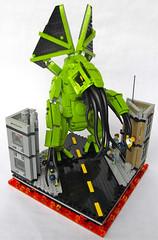 Cthulhu Rises (Imagine) Tags: city toys lego cthulhu minifig creature vignette rebrick foitsop imaginerigney rebrickbuildingchallenge