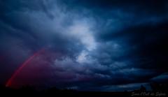 Quand le Rose traverse les Bleus (srie les Bleus) (Sous l'Oeil de Sylvie) Tags: pink blue sunset sky storm rose rural evening rainbow pentax champs bleu ciel qubec nuage soir campagne orage coucherdesoleil arcenciel beauce sigma1020mm k7 stvictor profondeur dramatique sousloeildesylvie