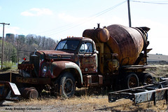 Mack B -- concrete truck (gdmey) Tags: concrete cement mixer mack