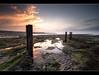 So Little Time (*Explored*) (A-D-Jones) Tags: ocean wood sea sun lighthouse seaweed beach water st set newcastle landscape island coast east marys algae posts groynes