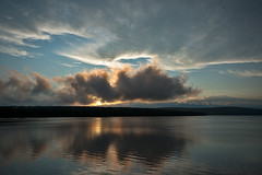 Quabbin (SPierceUrbex) Tags: statepark sunset sun nature water clouds dark ma massachusetts dana belchertown dcr resevior windsordam townofdana townofenfield