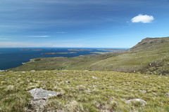the Summer Isles from lower slopes of Ben More Coigach (Francis Mansell) Tags: mountain scotland highlands scottishhighlands benmorecoigach coigach