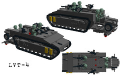LVT4 (Florida Shoooter) Tags: usmc lego pacific ww2 landingcraft ldd lvt4