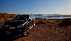 Our Chariot at Lake Powell (TaylorB90) Tags: park arizona lake canon river mercedes is colorado north grand az canyon cliffs national ii mercedesbenz page powell l 5d marble rim suv 1740 vermillion merc 24105 24l taylorbennett gl550 5d2