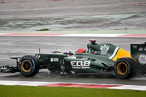 Heikki Kovalainen's Caterham in Silverstone
