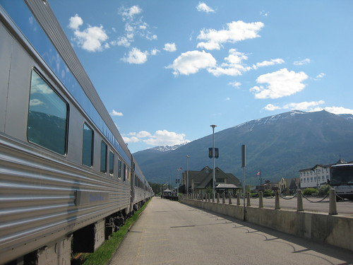 VIA Rail train in Jasper, Alberta