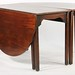 66. Mahogany Dropleaf Expandable Dining Table