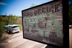 Mine Office (Illnoir) Tags: sign sunrise office rust mine abandon ghosttown weathered fireengine wyoming