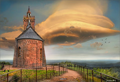 Black Hole (Jean-Michel Priaux) Tags: cloud france tower castle art church photoshop spectacular nikon paint medieval alsace lorraine lenticular hdr vosges moselle dabo terrific d90 priaux mygearandme flickrstruereflection1 paintmat
