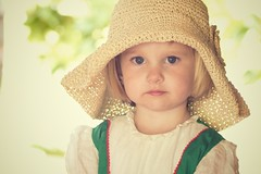 vintage 1 (pixidance) Tags: girl hat vintage village dress bob blond blonde blocks merrygoround headband cutetoddler
