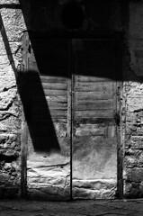 (bettsdg) Tags: bw blackandwhite pentax 35mm film analogue kodaktmax 400iso door outdoor shadows campania santagatadegoti monochrome