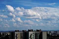 jnowak64 (jnowak64) Tags: poland polska malopolska cracow krakow krakoff bronowice krajobraz architektura niebo samoloty lato mik