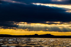 Her silhouette was beautiful (yarin.asanth) Tags: summer lake black water weather silhouette yellow clouds dark evening kayak waves sundown surface kayaking rays constance sunbeams allensbach yarinasanth gerdkozik tideracexplores