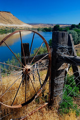 Idaho Rustic Ranch (Talo66) Tags: rural outdoors countryside scenery country rustic fences idaho rivers western snakeriver glennsferry ranches