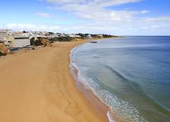Albufeira Beach (Hans van der Boom) Tags: europe portugal algarve vacation holiday albufeira beach empty sand sea pt
