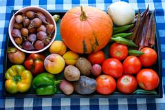 Market Bounty (-Dons) Tags: austin texas unitedstates tx usa fruit vegetable squash tomato okra onion potato pepper fig