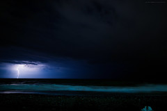 ... lontano da qui ... (gio_off_line_for_a_while) Tags: storm seascape lightning night wind seaside blue sand shoreline waves rainynight rain windynight clouds tu goodbye