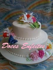 Bolo de Aniversario (festa da primavera) (Doces Enfeites -  Bolos e Biscuit) Tags: bolo de aniversariobolo para mulheresbolo festa primaveraflores biscuit bolos