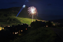 Fireworks (meltedplastic) Tags: fireworks mount crested butte colorado mountains available light