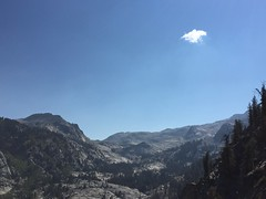 Lone Cloud (colonelchi) Tags: iphone apple smartphone sequoia sequoianationalpark sequoianationalmonument mountain mountains sierramountains mountainrange vacation summer summervacation bigmeadow meadow trip hiking cabin familycabin nationalpark national monument