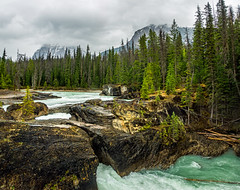natural bridge on kicking horse river in yoho NP - BC, canada (Russell Scott Images) Tags: canada britishcolumbia bc canadianrockymountains yohonationalpark naturalbridge kickinghorseriver