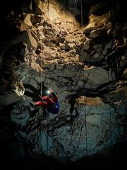 Hanged (Ashraf.Rafdzi) Tags: cave caver caving spelunking rope singleropetechnique vertical underground dark darkness adventure exploration explore lighting shadow natgeo nationalgeographic fujifilm x20 descent srt outdoor extremesports