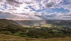 Road to Hope (charlieshelton33) Tags: edale district nationaltrust hills mountains sky light rays country mam tor great ridge peak wild camp
