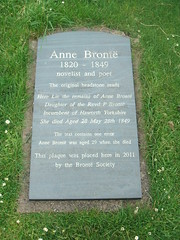 The grave of Anne Bronte novelist and poet 1820-49. (Bennydorm) Tags: anne poet novelist scarborough yorkshire england britain uk europe town resort grave tomb cemetery graveyard stmary inmemorian rip annebronte famous writer