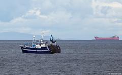 Trawler Benarkle PD 400; Moray Firth, Scotland (Michael Leek Photography) Tags: benarkle pd400 fishing fishingboat fishingvessel fishingtrawler squid oiltanker oilindustry towing michaelleek michaelleekphotography morayfirth mountains sutherland tanker scottishcoastline scottishfisheries scotland sea ship workboat vessel vlcc trawler squidfishing findochty