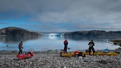 Nearly ready (Frank Busch) Tags: frankbusch frankbuschphotography imagebyfrankbusch photobyfrankbusch cesar glacier greenland john kayaking kayaks ocean paddling southgreenland tracy wwwfrankbuschname