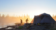 Expedition Camp Morning (Fish as art) Tags: outdoorphotography outdooradventure outdoors nikon nikonlenses morninglight canada canadiangeography rivers travel fog camping