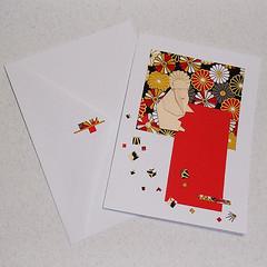 monkey-2-origami-cards-julie-savard (Julie Savard) Tags: origami handmade handmadecards orijuju juliesavard carteenorigami greetingcards collage mixedmedia paperfolding eto zodiac astrology astrologie chineseastrology monkey singe